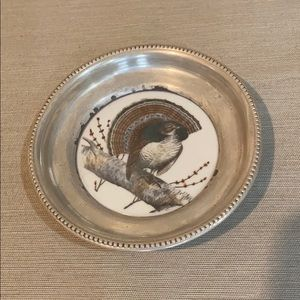 Vintage Frank M. Whiting Silver Coaster ~ Grouss